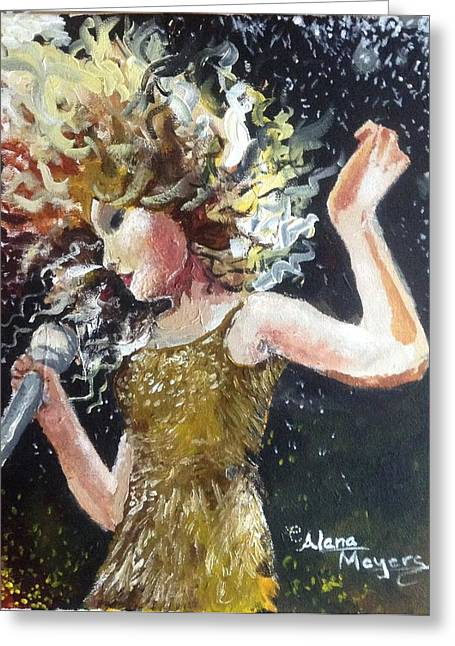 Taylor Swift Paintings Greeting Cards - Sparkle Greeting Card by Alana Meyers