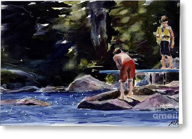 Diving Board Greeting Cards - Sparkle Lake Greeting Card by Molly Poole