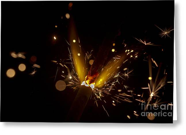 Sparkler macro Greeting Card by SteveHPhotos