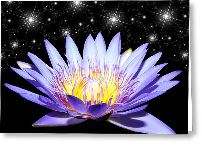 Featured Art Greeting Cards - Sparkling Blue Wonder Greeting Card by Judy Vincent