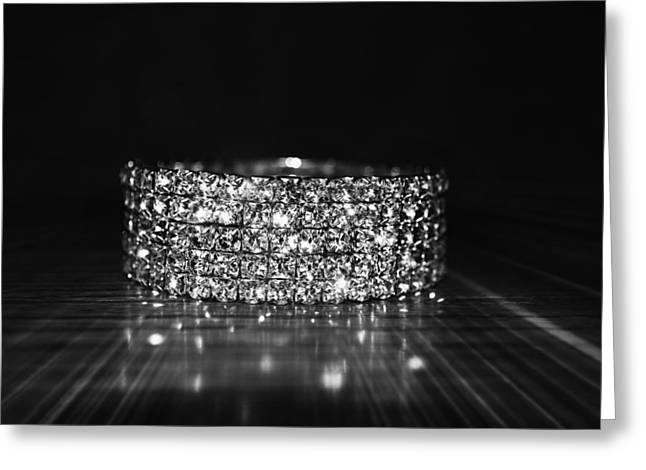 Diamond Bracelet Photographs Greeting Cards - Sparkling Greeting Card by Molly Proud