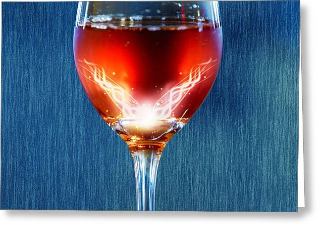 Sparkling Moscato Greeting Card by Bill Tiepelman