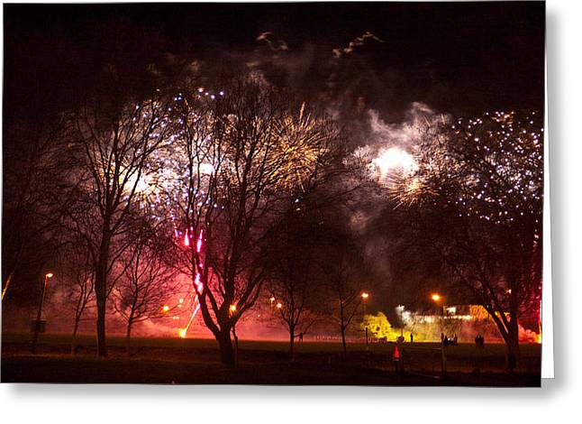 November Framed Prints Greeting Cards - Sparkling nights 1 Greeting Card by Wendy Le Ber