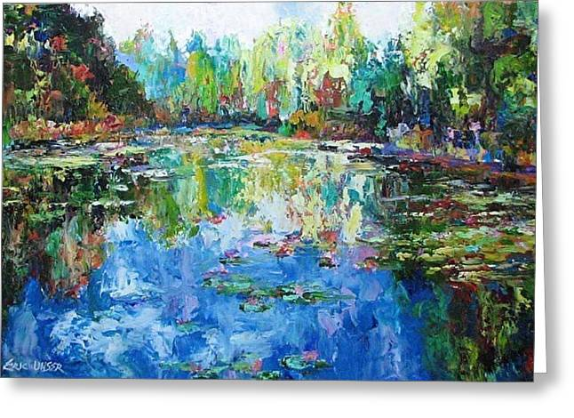 Pallet Knife Greeting Cards - Sparkling Water Greeting Card by Eric Unser
