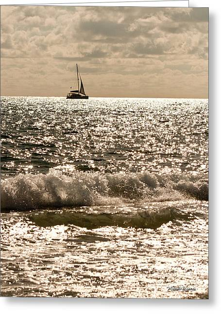 Sparkling Beach Greeting Cards - Sparkling Water Greeting Card by Michelle Wiarda