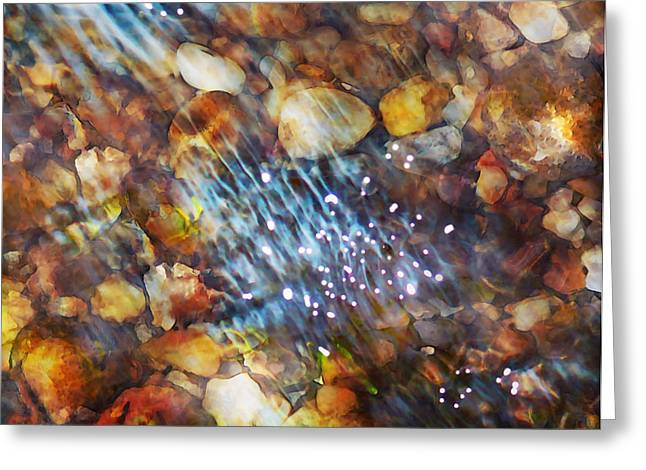 Clear Flowing Stream Greeting Cards - Sparkling Waters 2 Greeting Card by Terril Heilman