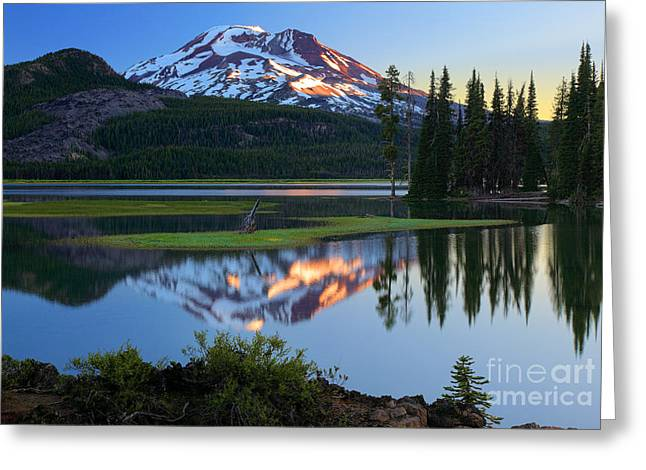 Pacific Greeting Cards - Sparks Lake Sunrise Greeting Card by Inge Johnsson