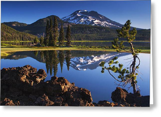 Spark Greeting Cards - Sparks Lake Sunrise Greeting Card by Mark Kiver