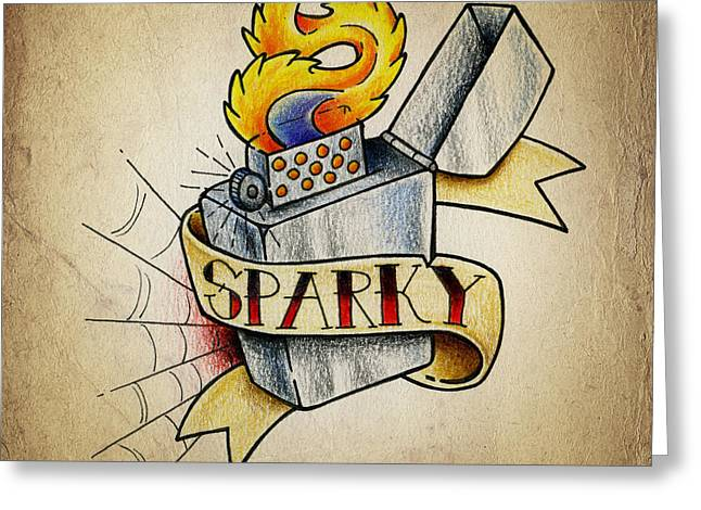 Lighter Greeting Cards - Sparky Greeting Card by Samuel Whitton