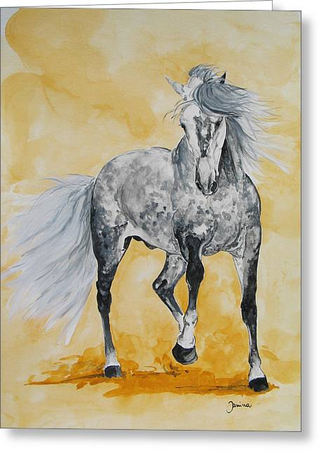Janina Suuronen Art Greeting Cards - Spartacus Greeting Card by Janina  Suuronen