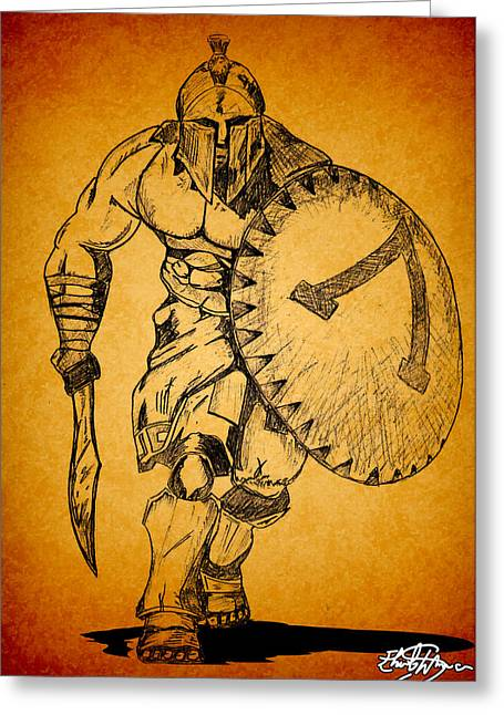 Frank Miller Greeting Cards - Spartan 300 Greeting Card by Ehud Shomron