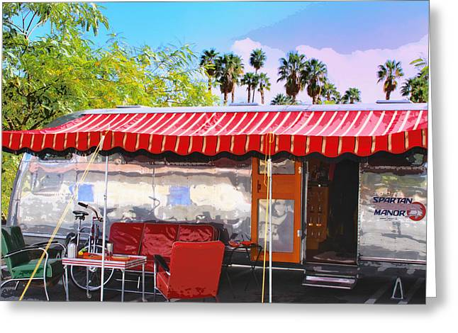 Metal Tires Greeting Cards - SPARTAN MANOR Palm Springs Greeting Card by William Dey