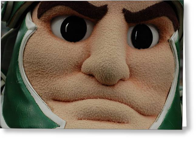 Sparty Face  Greeting Card by John McGraw