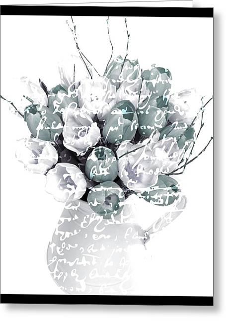 Tulip Tree Greeting Cards - Speak Softly Tulips Greeting Card by Debra  Miller