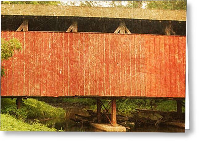 Covered Bridge Greeting Cards - Speakman Coverd Bridge Greeting Card by Michael Porchik