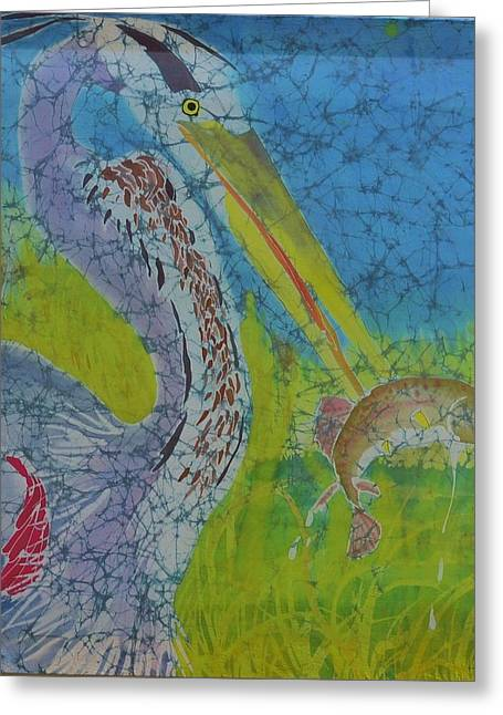 Print Tapestries - Textiles Greeting Cards - Spearfishin Greeting Card by Kate Ford