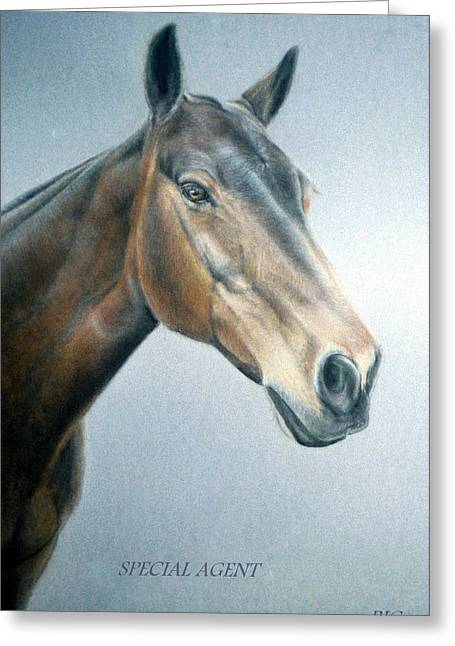 Equestrian Prints Pastels Greeting Cards - Special Agent Greeting Card by Rosemary Colyer
