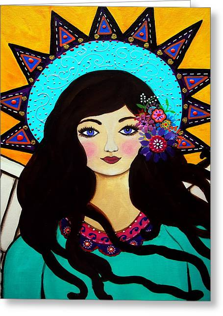 Daughter Gift Paintings Greeting Cards - Special Angel Greeting Card by Pristine Cartera Turkus