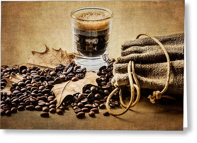Grain Sacks Greeting Cards - Special Blend Coffee I Greeting Card by Marco Oliveira