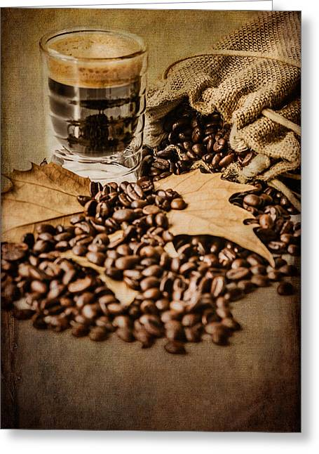 Grain Sacks Greeting Cards - Special Blend Coffee II Greeting Card by Marco Oliveira