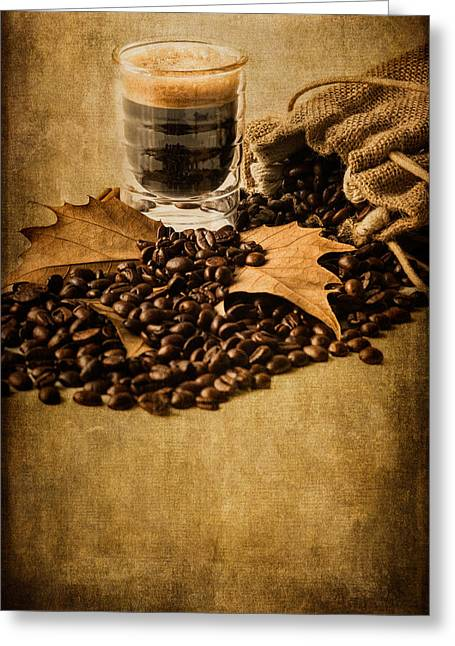 Grain Sacks Greeting Cards - Special Blend Coffee III Greeting Card by Marco Oliveira