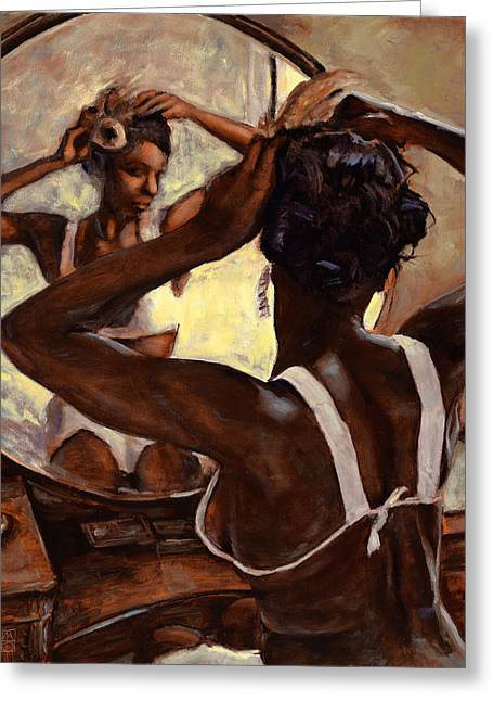 African-american Paintings Greeting Cards - Special Care Greeting Card by Michael Orwick