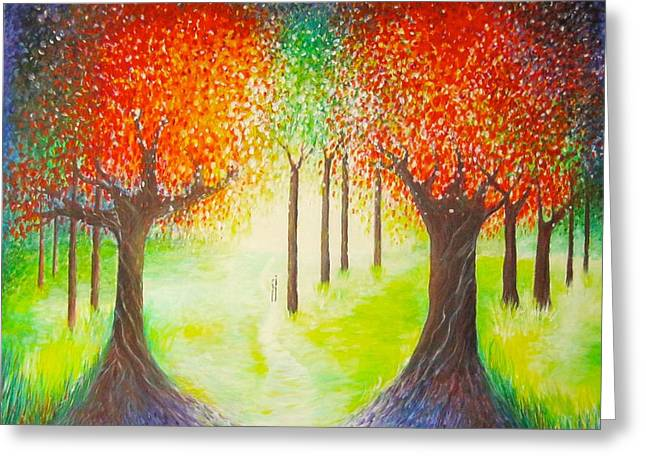 Abstract Realist Landscape Greeting Cards - Special Day Greeting Card by Jean Tatton Jones