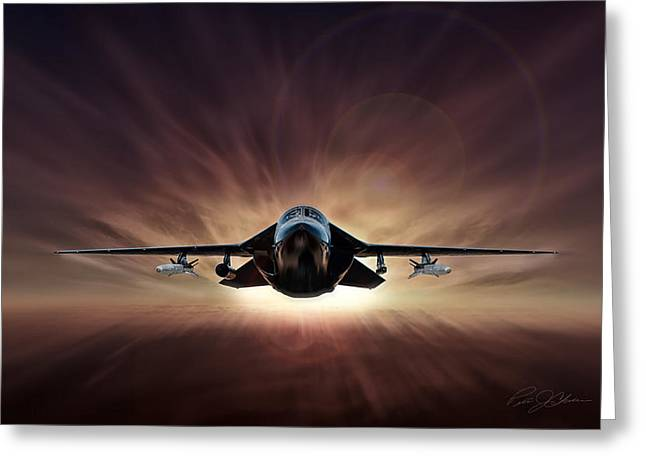 Strike Digital Greeting Cards - Special Delivery F-111 Greeting Card by Peter Chilelli