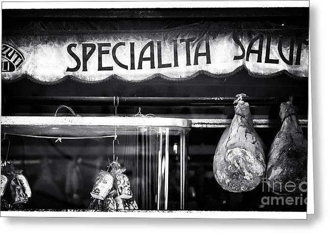 Photo Art Gallery Greeting Cards - Special Salami Greeting Card by John Rizzuto
