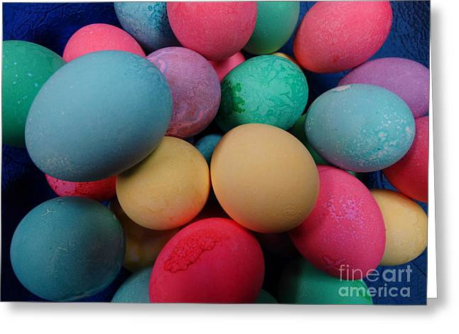 Holy Week Greeting Cards - Speckled Easter Eggs Greeting Card by Joseph Baril