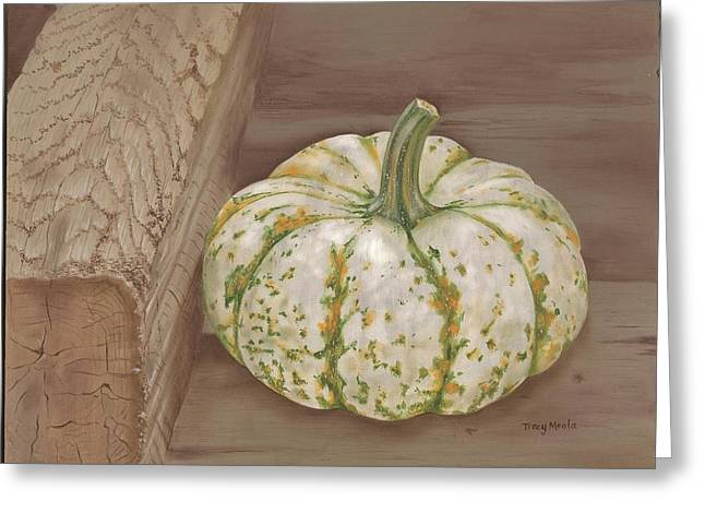 Farmstand Greeting Cards - Speckled Gourd Greeting Card by Tracy Meola