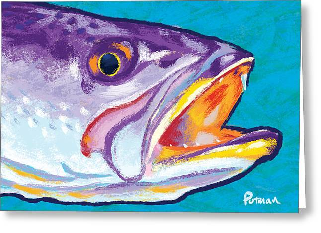 Speckled Trout Greeting Cards - Speckled Trout Colors Greeting Card by Kevin Putman