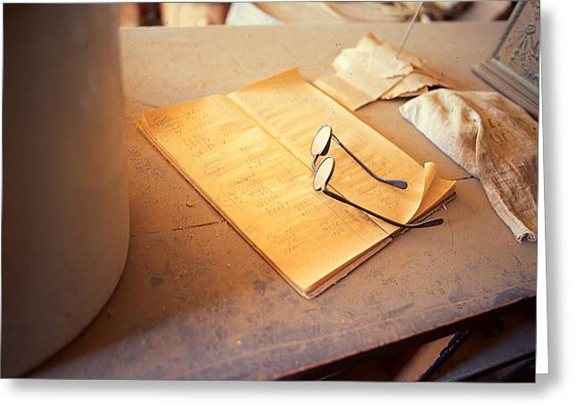 Glass Pyrography Greeting Cards - Spectacles Greeting Card by Armando Arorizo