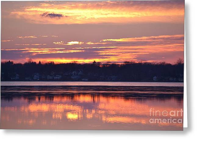 Black Top Greeting Cards - Spectacular sunset Greeting Card by Carolyn Freligh
