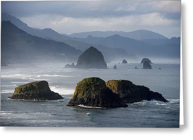 Ethereal Beach Scene Greeting Cards - Spectacular Coastal Scenery Is Found Greeting Card by Robert L. Potts