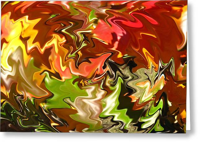 Spectacular Colors Of Autumn Greeting Card by Barbara McDevitt