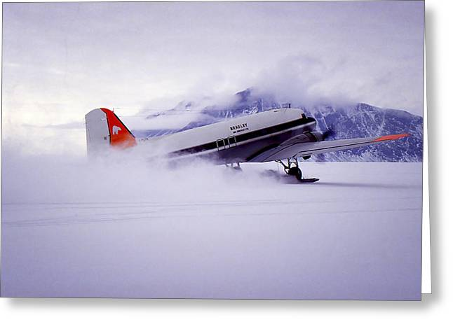 Dc3 Greeting Cards - Spectacular Landing Greeting Card by Joan Carroll