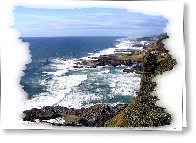Spectacular Ocean Vistas Greeting Cards - Spectacular Oregon Greeting Card by Will Borden