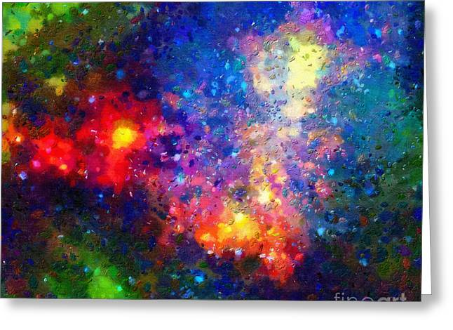 Outer Space Paintings Greeting Cards - Spectacular outer space Greeting Card by Magomed Magomedagaev