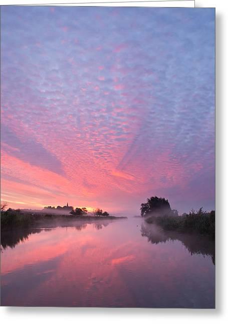 Gelderland Greeting Cards - Spectacular Sunrise Greeting Card by Maxim Van Asseldonk