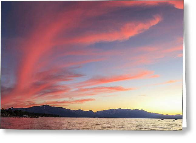 Spectacular Sunset Colors Greeting Card by Tom Norring