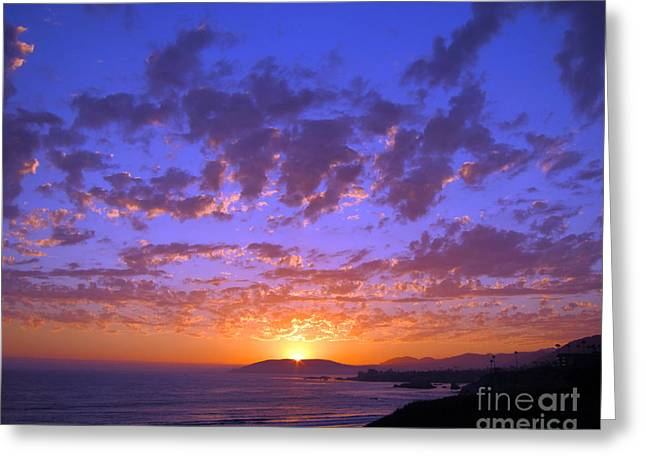 Ocean Vista Greeting Cards - Spectacular Sunset  Greeting Card by Debra Thompson