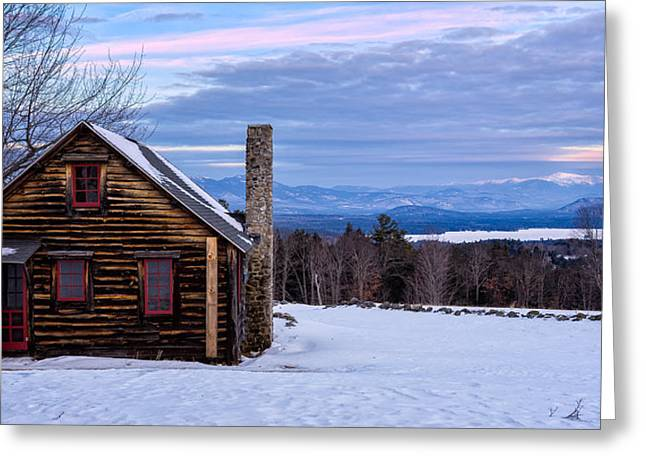 Cabin Window Greeting Cards - Spectacular View Greeting Card by Jeff Sinon