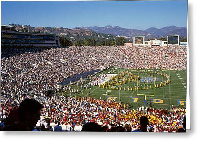 University Of California Greeting Cards - Spectators Watching A Football Match Greeting Card by Panoramic Images