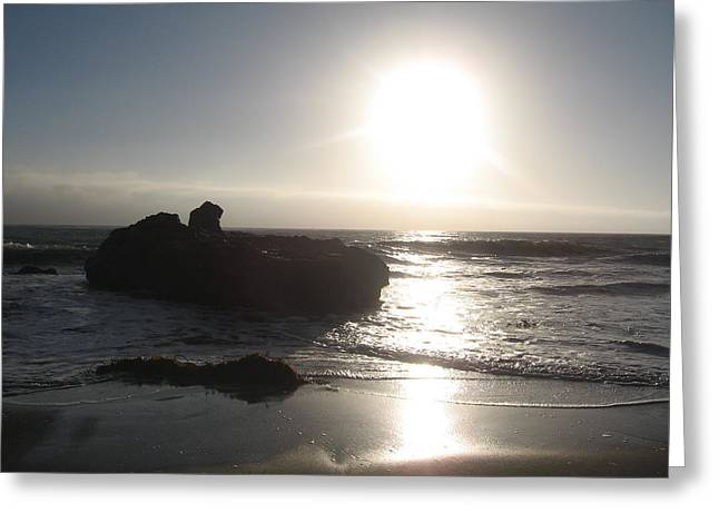 Cambria Greeting Cards - Spectral Sunset Greeting Card by Donald Aday