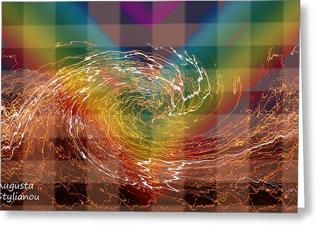 Spectrum Greeting Cards - Spectrum and Galaxy Greeting Card by Augusta Stylianou