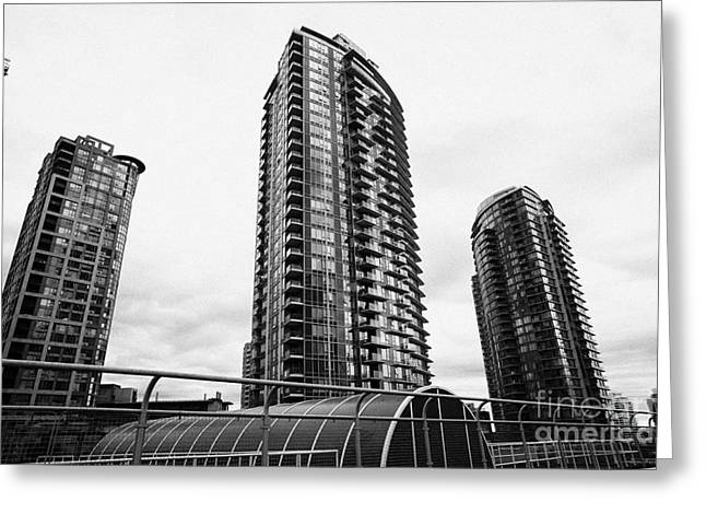 Spectrum Greeting Cards - spectrum condo towers in downtown Vancouver BC Canada Greeting Card by Joe Fox