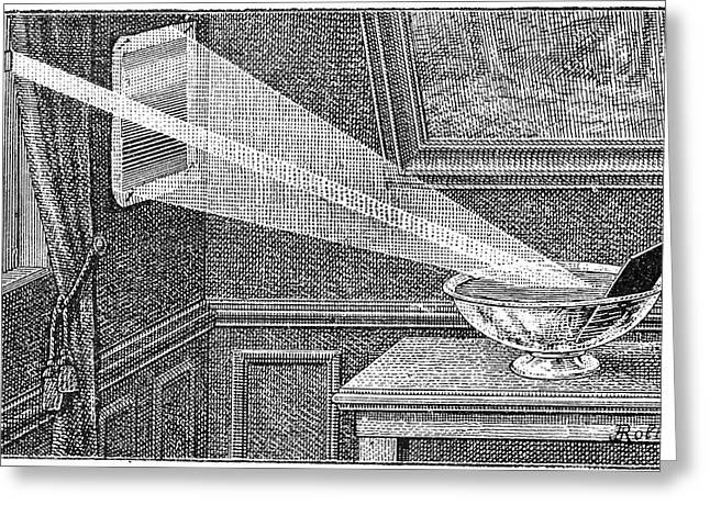 La Science Illustree Greeting Cards - Spectrum of light experiment, 1889 Greeting Card by Science Photo Library