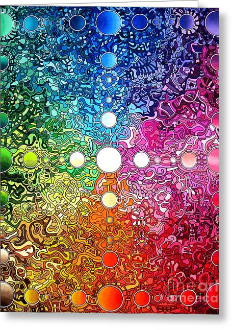 Spectrum Drawings Greeting Cards - Spectrum Original Greeting Card by Devin  Cogger