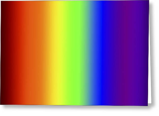 Spectrum Three Greeting Card by Gregory Scott